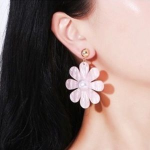 Mother of Pearl Pink White Daisy Any 2 for $25